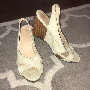 Tan Ugg wedges, size 8 1/2
